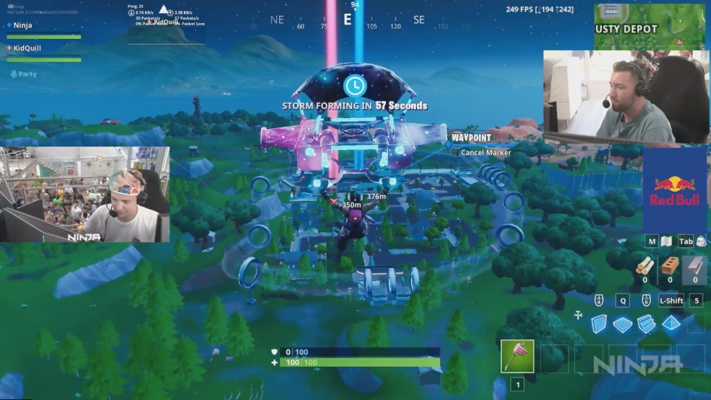 Ninja's debut stream on Mixer. Live from Lollapalooza